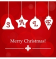 Christmas sale ornament holidays template vector image vector image