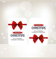 chrtistmas card with red biw vector image vector image