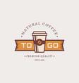 coffee to go logo vector image vector image