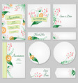 collection greeting cards with stylized wild vector image vector image