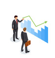 concept of presentation of the income growth vector image vector image