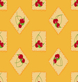 Cute cherry seamless pattern vector image vector image