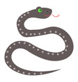 cute snake cartoon flat sticker or icon vector image