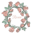 decorative floral garland with pink roses vector image