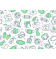 disinfection green seamless pattern vector image vector image