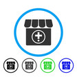 drugstore rounded icon vector image