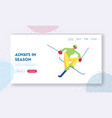 extreme freestyle skiing trick website landing vector image vector image