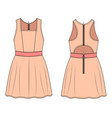 fashion technical sketch of dress in vector image