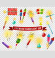 firework sparlers firecrackers transparent vector image