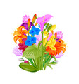 floral wreath summer flowers arranged in wreath vector image vector image