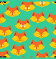 fox head pattern animal background ornament face vector image vector image