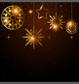 golden ornament for christmas decoration vector image