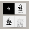 Greeting card coffee cup design vector image vector image