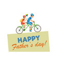 greeting card written happy fathers day vector image