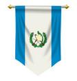 guatemala pennant vector image vector image