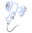 hair dryer drawing on white background vector image