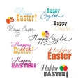 Happy Easter labels set vector image