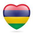 Heart icon of Mauritius vector image vector image