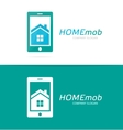 house and phone logo combination Real vector image vector image