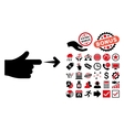 Index Hand Flat Icon with Bonus vector image vector image