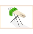 ironing table 3d vector image vector image