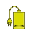 Isolated battery and plug design vector image vector image