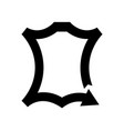 leather logo icon recycled symbol vector image vector image