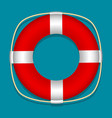 lifebuoy blue background isolated object vector image vector image