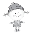 Little girl standing in winter clothes and smiling vector image