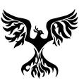 Magic bird Phoenix for coloring vector image