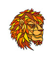 male lion head mosaic vector image