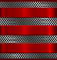 metal perforated texture with red steel stripes vector image vector image