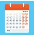 new calendar sheet vector image vector image