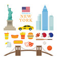 new york landmarks objects vector image vector image