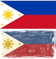 Philippines grunge flag Grunge effect can be vector image vector image