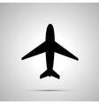 Plane simple black icon vector image vector image