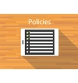 policies company listed in tab vector image