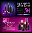 premium beauty discount voucher vector image