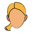 pretty face woman smile hair style vector image