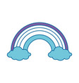 rainbow and clouds icon vector image vector image