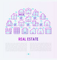 real estate concept in half circle vector image vector image