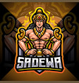 sadewa esport mascot logo design vector image vector image
