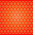 seamless geometric pattern on red background vector image vector image