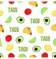 seampless taco pattern vector image vector image