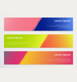 set abstract horizontal banner design template vector image