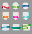 set banners with ribbon vector image vector image