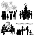 Set of Christmas flat icons isolated on white