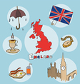 set of national profile of the england vector image vector image