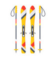 ski and sticks vector image vector image