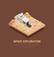 space exploration composition vector image vector image